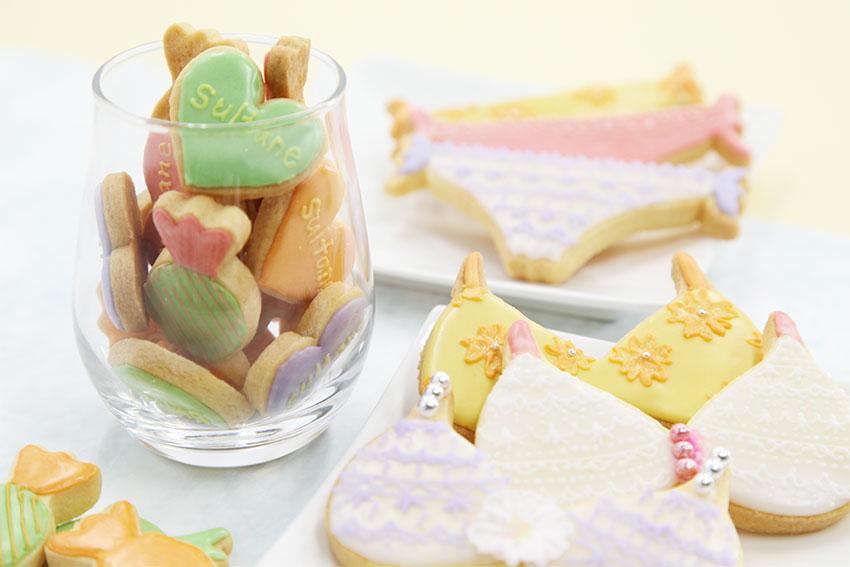 アイシングクッキー 3種類の下着とsultaneハート