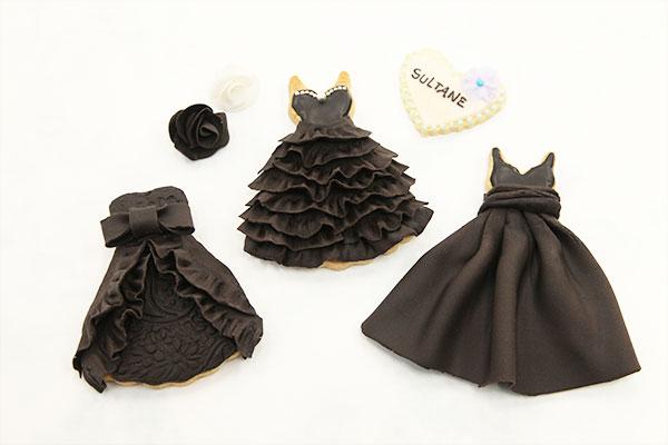 アイシングクッキー 黒のドレス